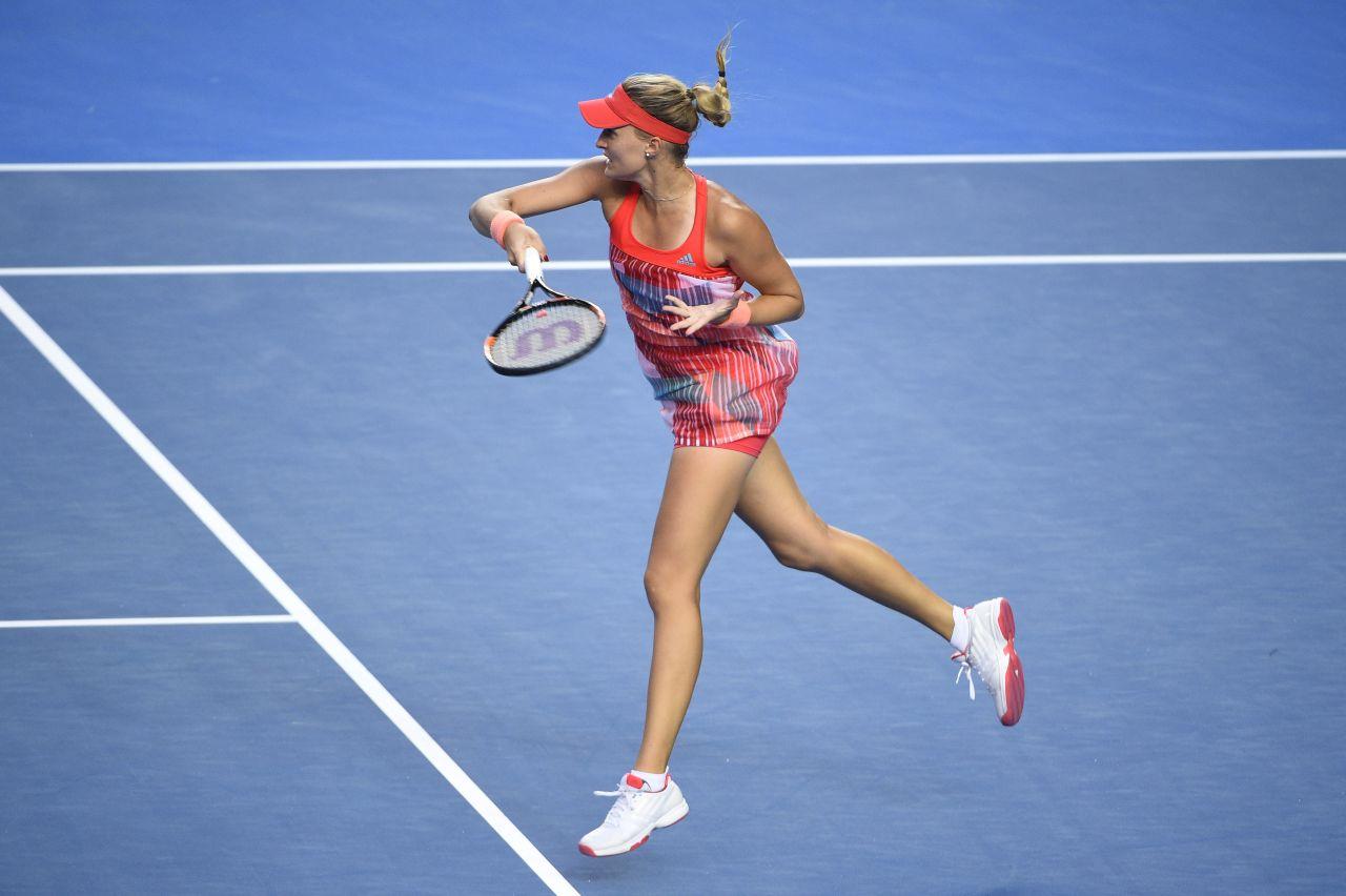 Kristina Mladenovic 2016 Australian Open In Melbourne