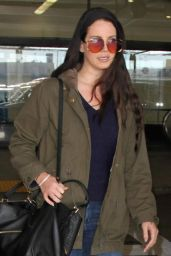 Lana Del Rey at LAX Airport,  January 2016