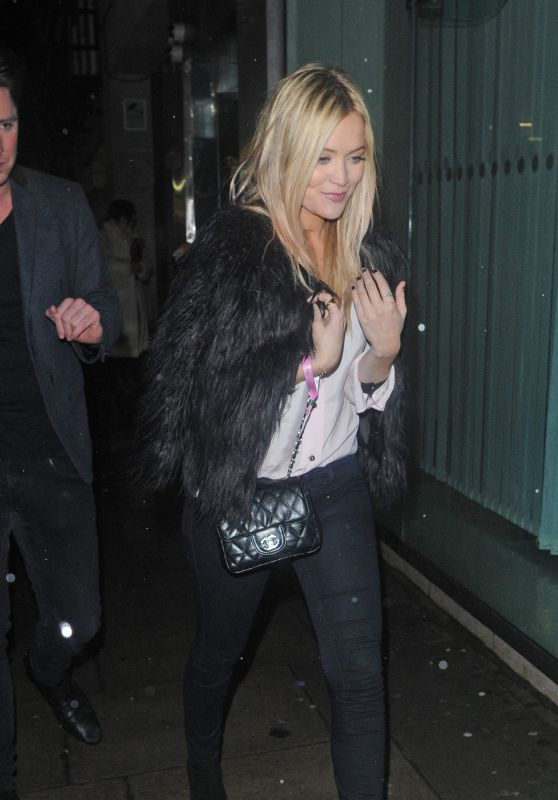 Laura Whitmore Night Out Style - Leaving Tape Nightclub in London 1/30/2016