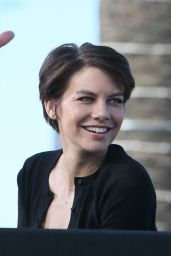Lauren Cohan - on the Set of