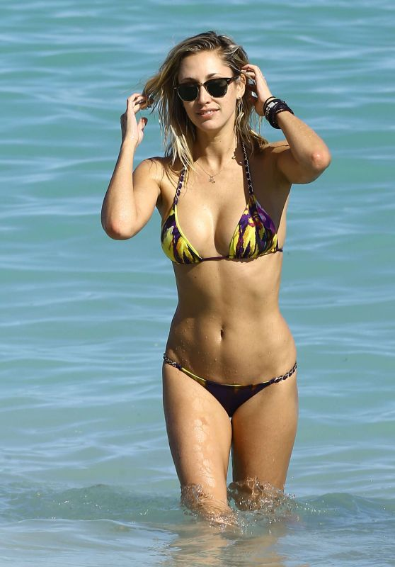 Lauren Stoner in a Bikini on the Beach in Miami 1/16/2016