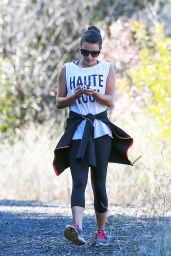 Lea Michele in Leggigns -  at Coldwater Canyon Park inBeverly Hills, CA 1/8/2016