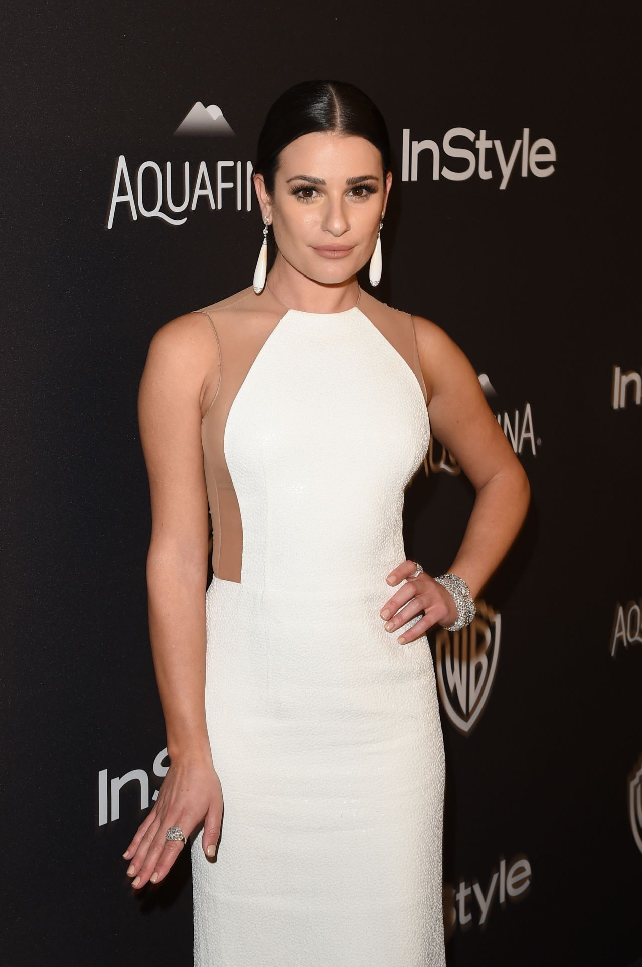 Lea Michele Instyle And Warner Bros Golden Globe Awards