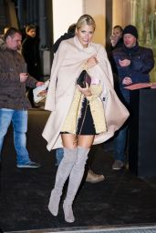 Lena Gercke Style - Leaving Marc Cain After Show Party 1/19/2016