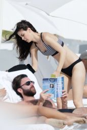 Lena Meyer Landrut Bikini Candids - Beach in Miami 1/13/2016