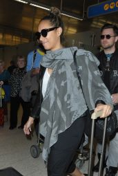Leona Lewis Returning to Los Angeles - LAX Airport, January 2016