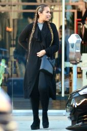 Leona Lewis Street Style  - Shopping at Nasty Gal in West Hollywood 12/29/2015