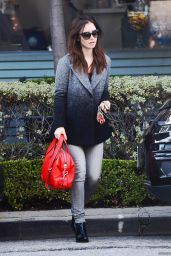 Lily Collins Casual Style - Out in Los Angeles 1/7/2016