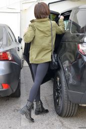 Lily Collins in Spandex - Out in Los Angeles 1/27/2016