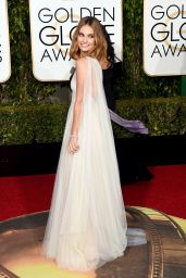 Lily James – 2016 Golden Globe Awards in Beverly Hills