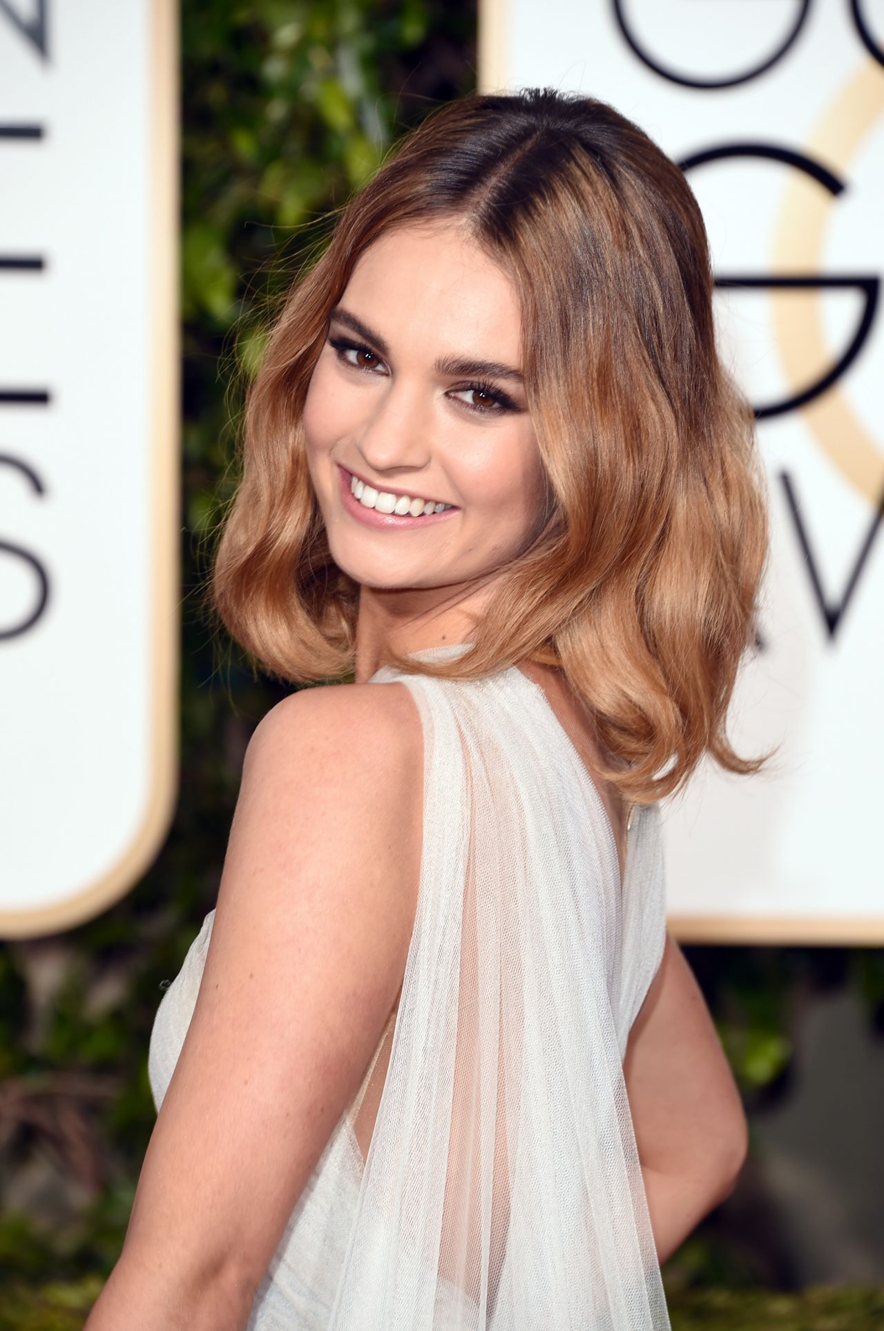 Lily James 2016 Golden Globe Awards In Beverly Hills