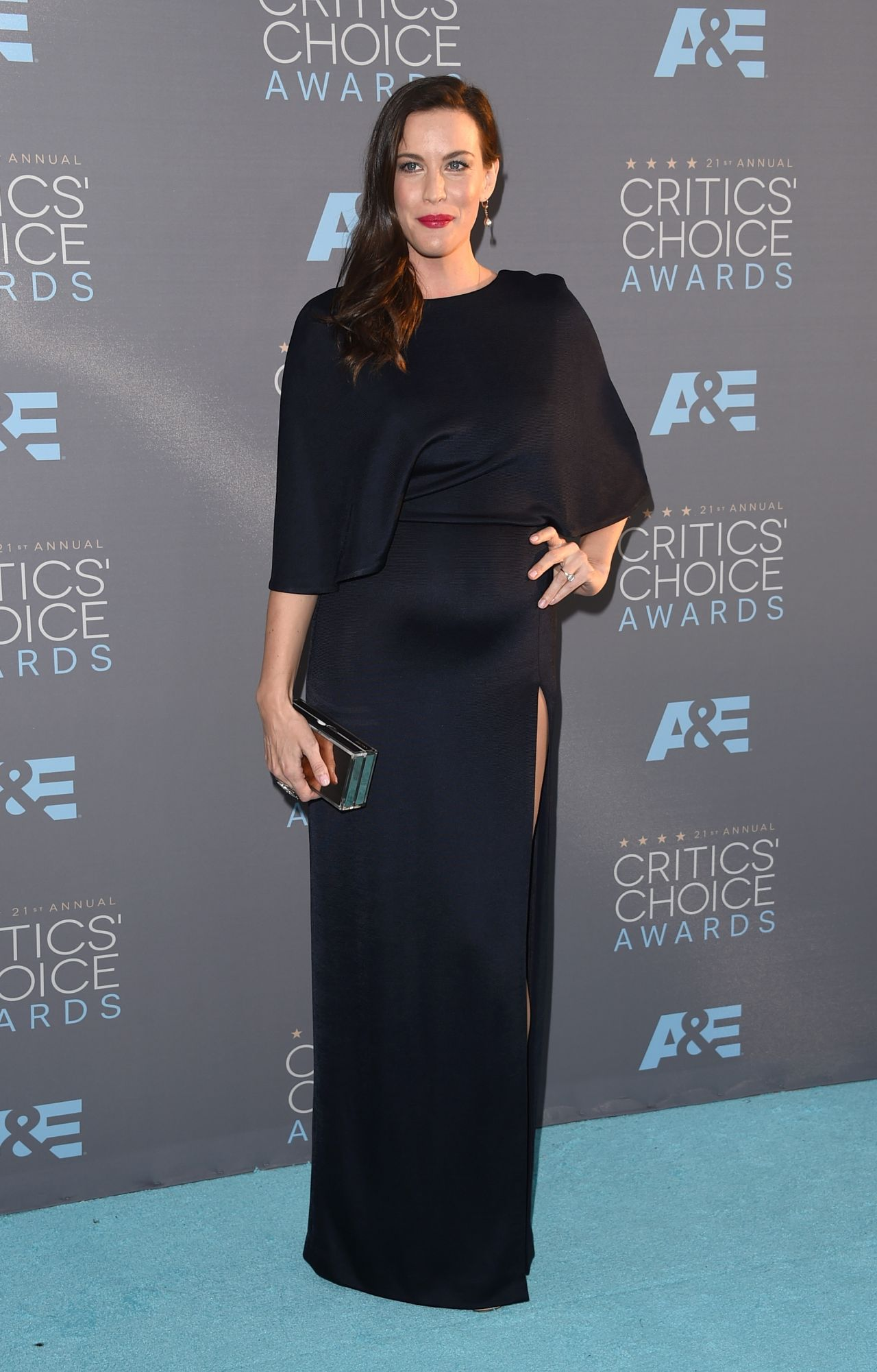 Liv Tyler On Red Carpet 2016 Critics Choice Awards In