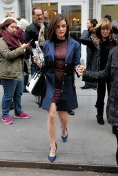 Lucy Hale Fashion - Leaves Buzzfeed in New York City 1/12/2016