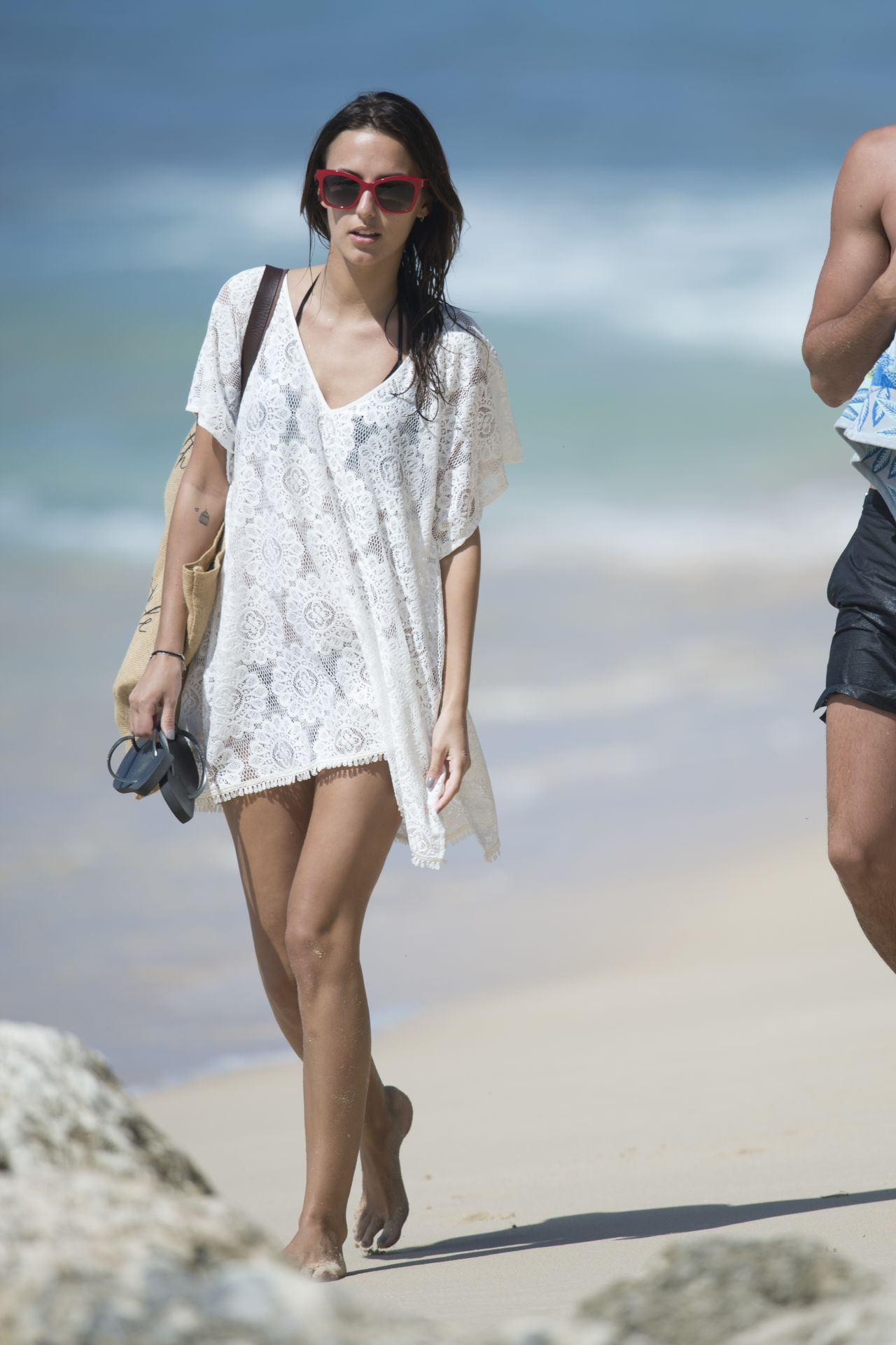 Lucy Watson Bikini Candids Beach In Barbados 12 31 2015