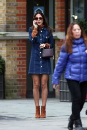 Lucy Watson Casual Style - Out in West London, January 2016