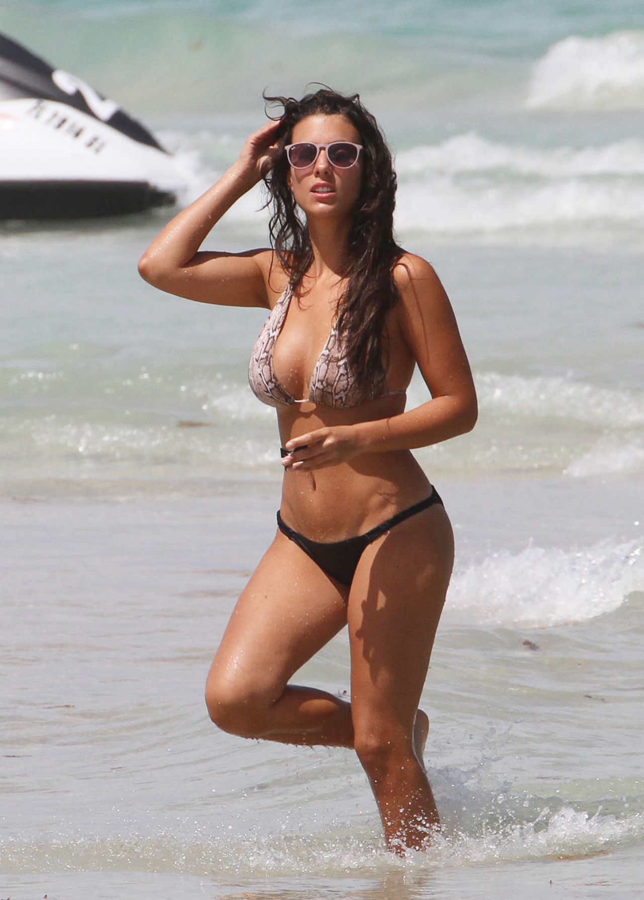 Ludivine Sagna In Bikini At A Beach In Miami 122016-9733