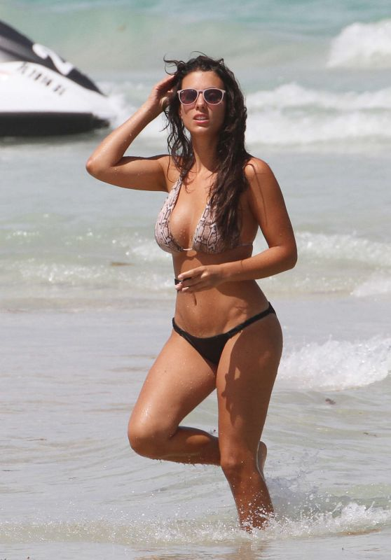 Ludivine Sagna in Bikini at a Beach in Miami 1/2/2016