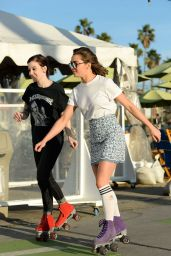 Maisie Williams - Roller Skating in Santa Monica, January 2016