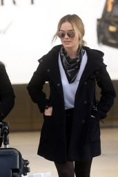 Margot Robbie Airport Style - at Heathrow Airport in London 1/25/2016