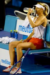 Maria Sharapova Practice Session Ahead of 2016 Australian Open Tennis Tournament in Melbourne
