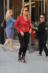 Mariah Carey Street Fashion - Shopping in Beverly Hills 1/13/2016
