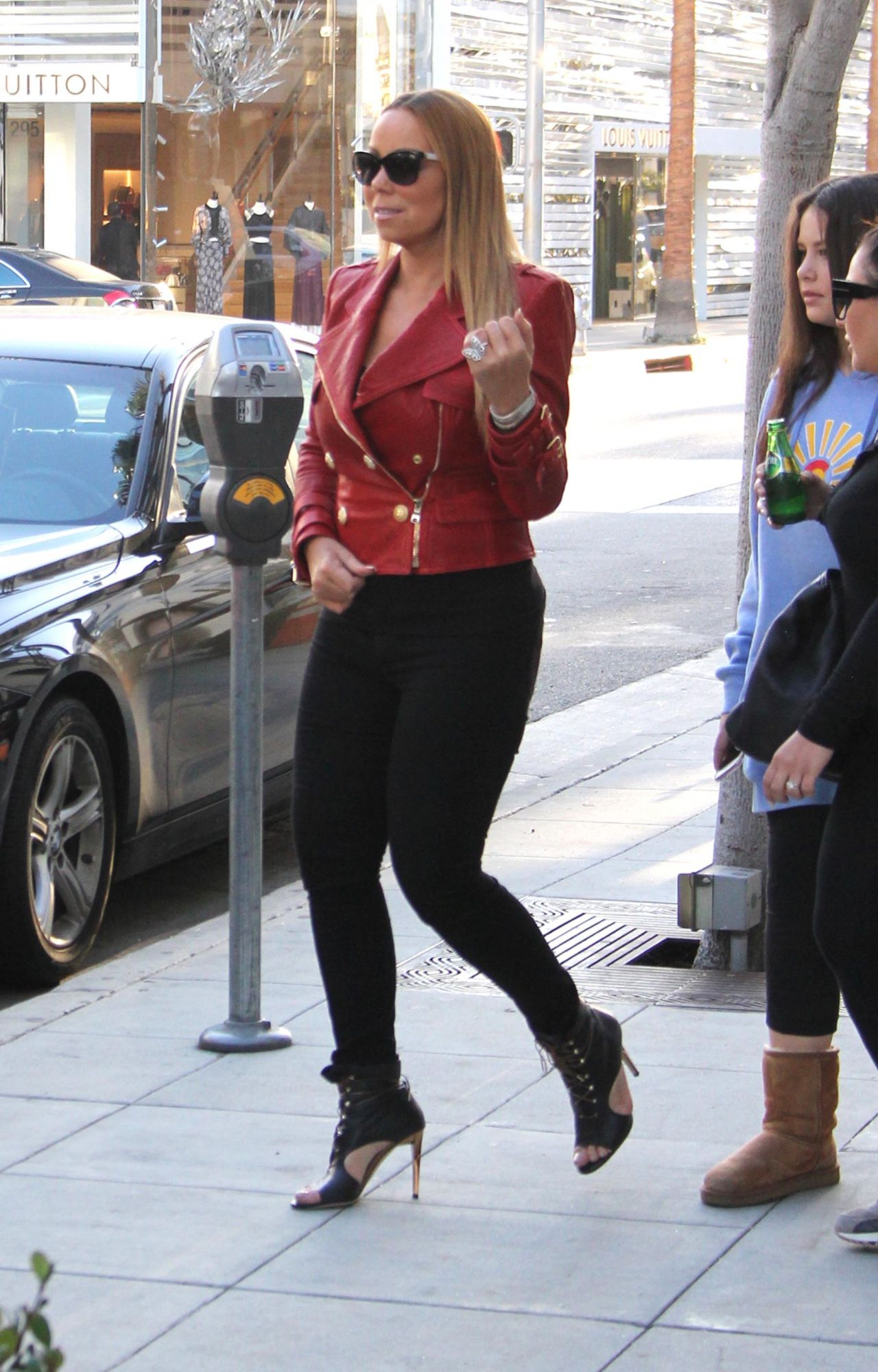Mariah Carey Street Fashion Shopping In Beverly Hills 1