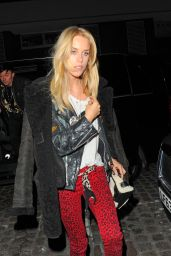 Mary Charteris Night Out Style - Arrives at Chiltern Firehouse in London 1/28/2016