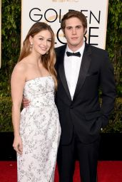 Melissa Benoist – 2016 Golden Globe Awards in Beverly Hills