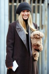 Michelle Hunziker Winter Style - Out in Milan 1/21/2016
