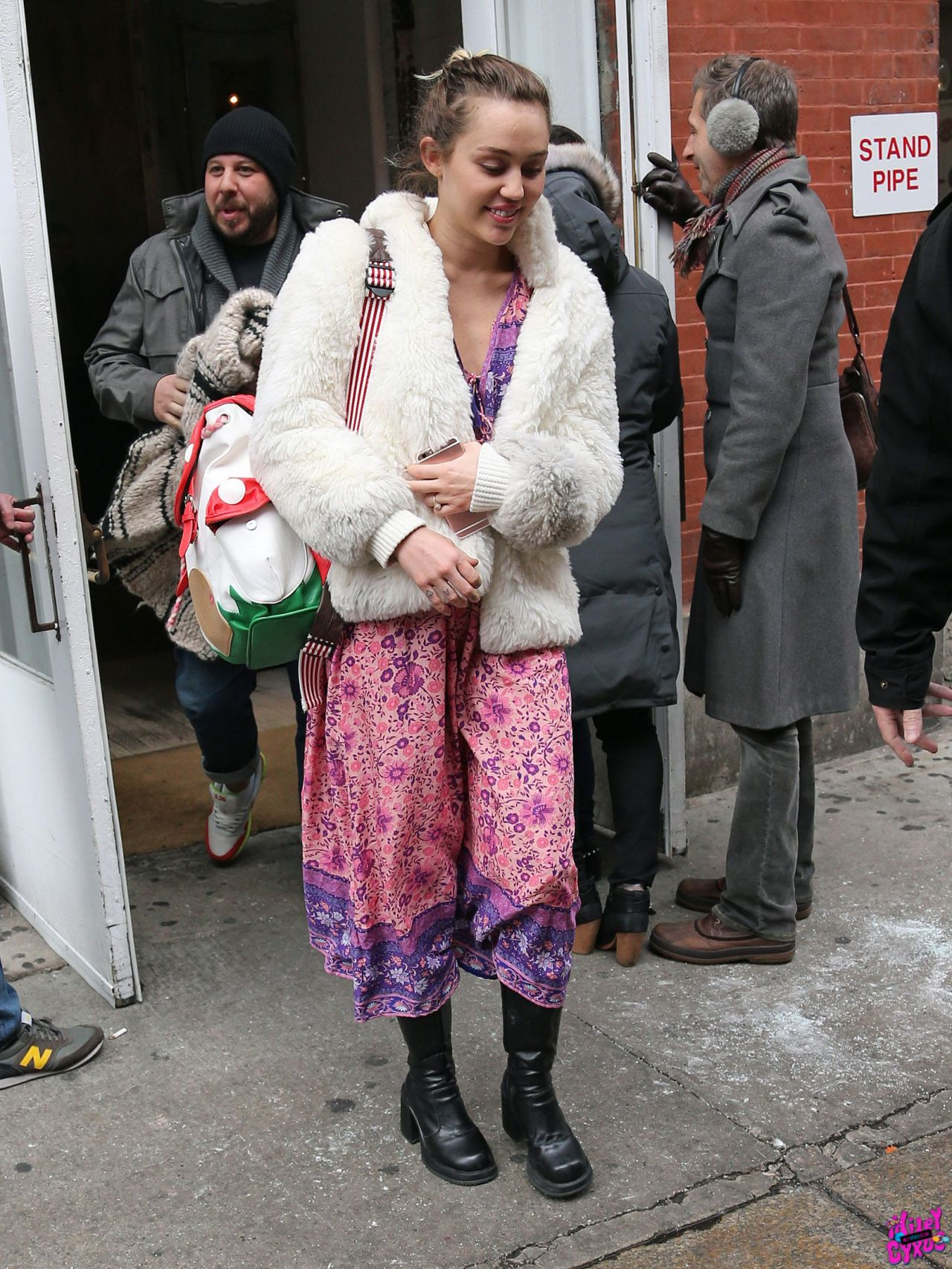 Cyrus Leaving Abc Kitchen In New York City January