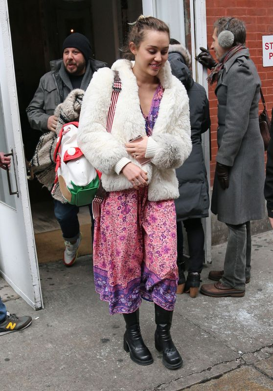 Miley Cyrus - Leaving ABC Kitchen in New York City, January 2016