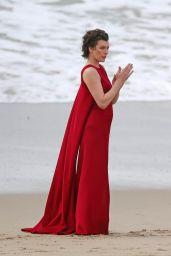 Milla Jovovich - Photo Shoot in Malibu, January 2016