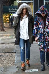Minka Kelly Street Style - Leaving Madeos Restaurant in Los Angeles, January 2016