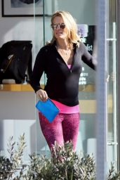 Molly Sims in Leggings - Out in Brentwood 1/26/2016