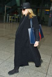 Natalie Dormer AIrport Style - Heathrow Airport in London 1/12/2016