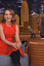 Natalie Portman Appeared on Tonight Show with Jimmy Fallon in New York City 01/27/2016