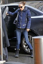 Natalie Portman Winter Style - Out in New York City 1/26/2016
