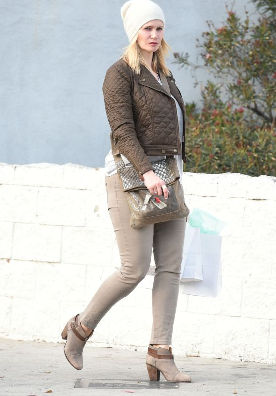 Natasha Henstridge - Out in Studio City 1/4/2016