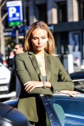 Natasha Poly - Photo Shoot Near the Hotel George V in Paris, January 2016