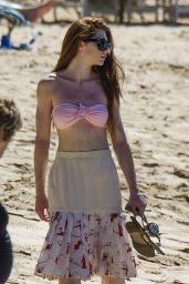 Nicola Roberts in Bikini Top on the beach in Barbados 1/29/2016