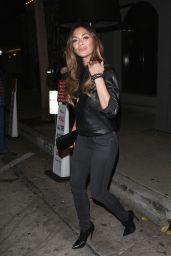 Nicole Scherzinger Night Out Style - Craigs Restaurant in West Hollywood 1/7/2016
