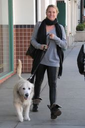 Nicollette Sheridan - Out With Her Dog in Beverly Hills 1/7/2016