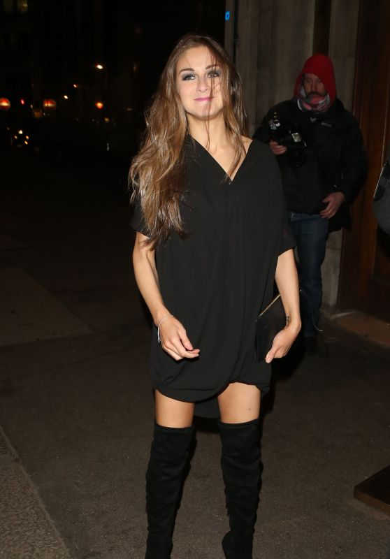 Nikki Grahame Night Out Style - Steam & Rye Club in London 1/28/2016