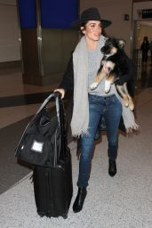 Nikki Reed at LAX Airport in Los Angeles 1/14/2016