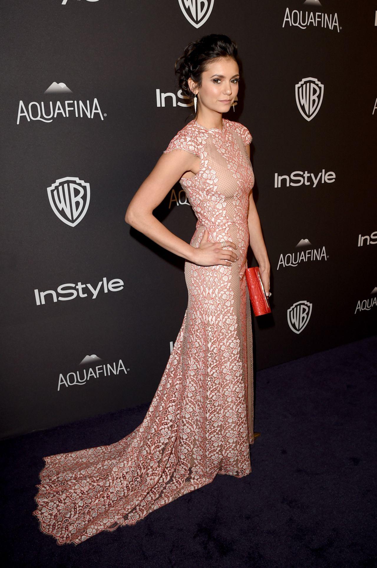 Nina Dobrev – InStyle And Warner Bros. 2016 Golden Globe ...