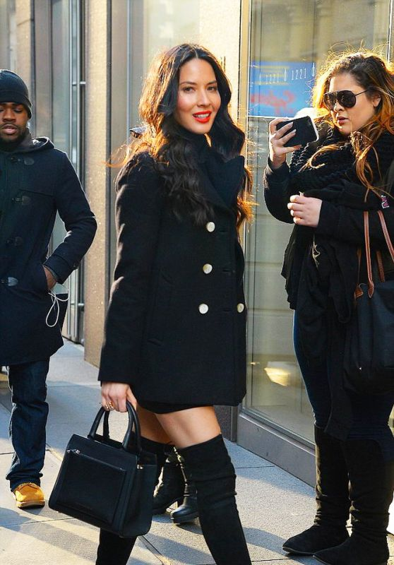Olivia Munn Style - Out in New York City 1/13/2016