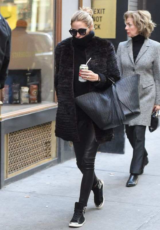 Olivia Palermo Casual Style - Out in New York City, January 2016