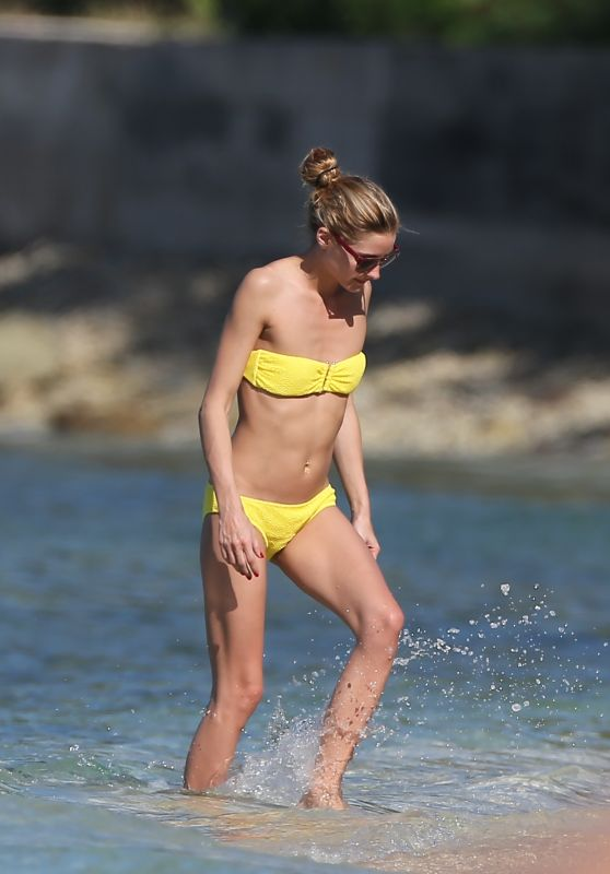 Olivia Palermo in Yellow Bikini at a Beach in St Barts 1/4/2016