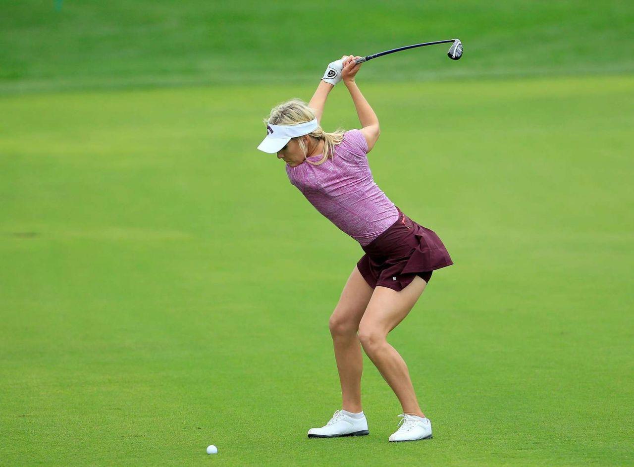 Paige Spiranac At 2015 Omega Dubai Ladies Masters