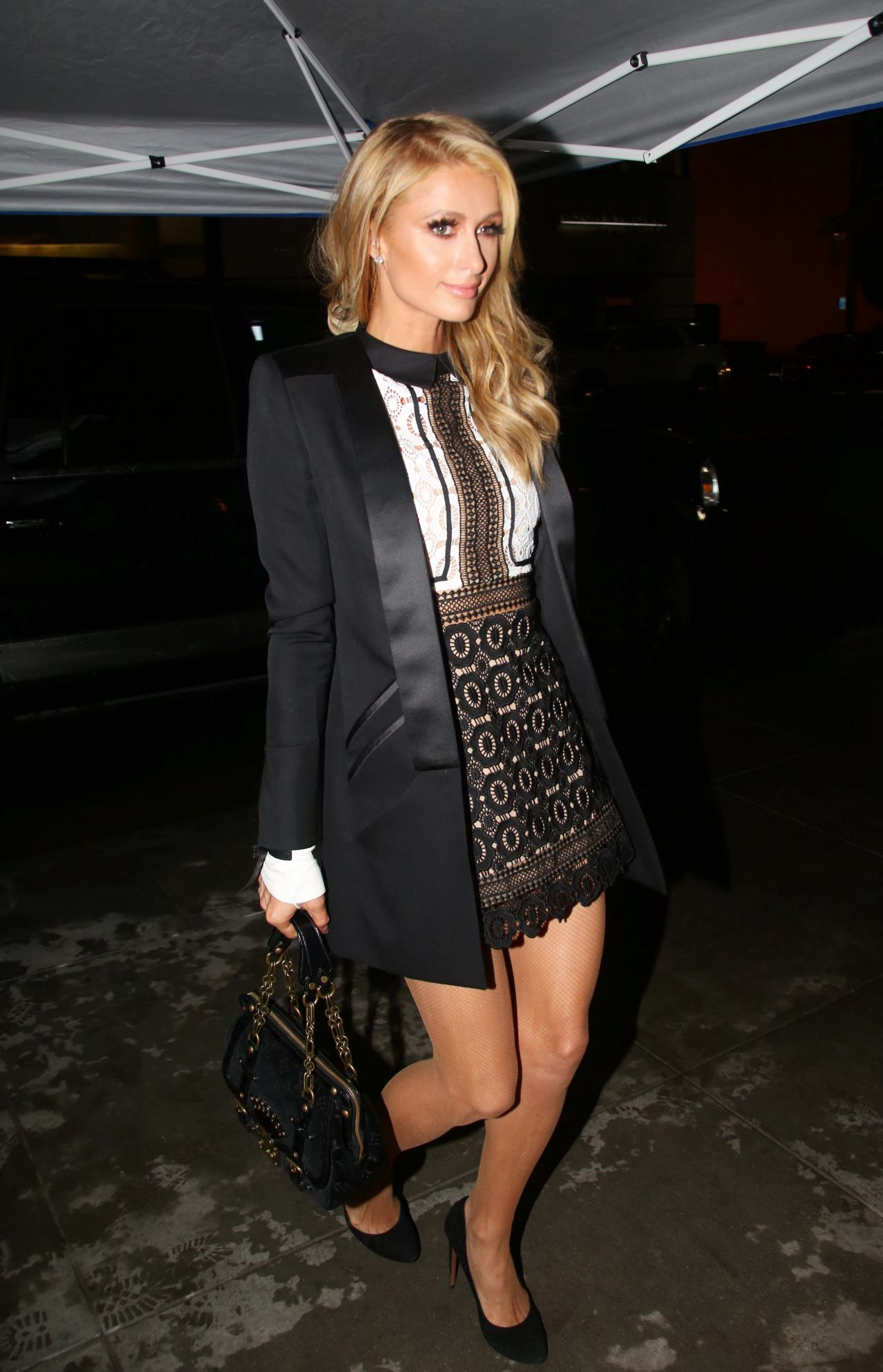 Paris Hilton Night Out Style - The Palm Restaurant in